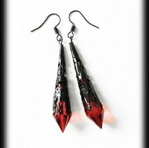 Gothic Victorian Vampire Spike Jem Earrings